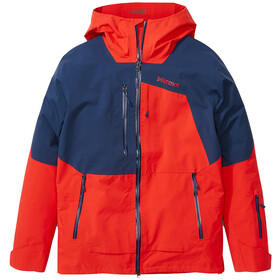 Marmot Smokes Run Veste Homme, victory red/arctic navy